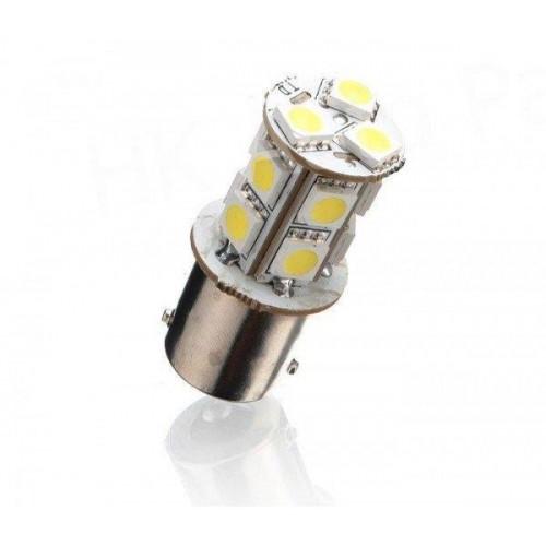 LED auto žárovka 12V BA15S 13SMD5050 ORANŽOVÁ 2,6W