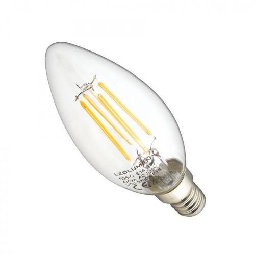 LED žárovka 4W COB Filament E14 470lm CCD TEPLÁ