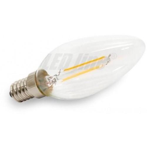 LED žárovka 2W COB Filament E14 260lm TEPLÁ