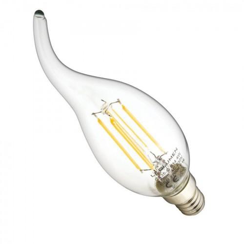 LED žárovka 4W 4xCOS Filament E14 470lm CCD TEPLÁ BÍLÁ