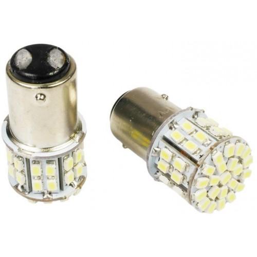 LED auto žárovka 12V BAY15D 50xSMD1206 5W dvouvláknová