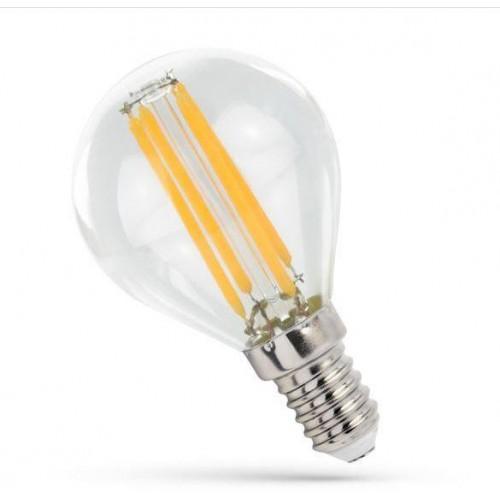 LED žárovka 4W Globe 4xCOG Filament E14 500lm TEPLÁ BÍLÁ