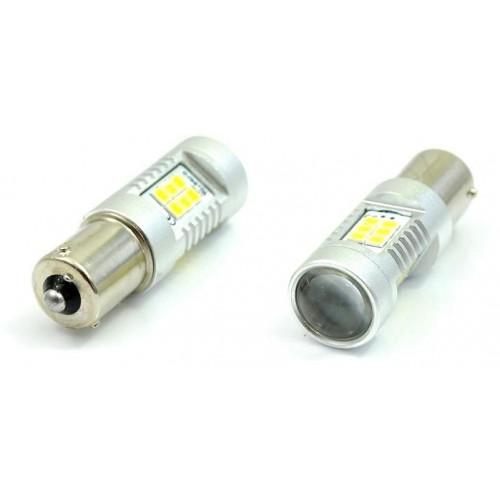 LED auto žárovka 12V BA15S 21SMD2835 6W