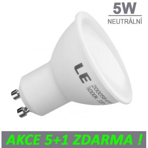 LED žárovka 5W 8xSMD2835 GU10 480lm NEUTRÁLNÍ
