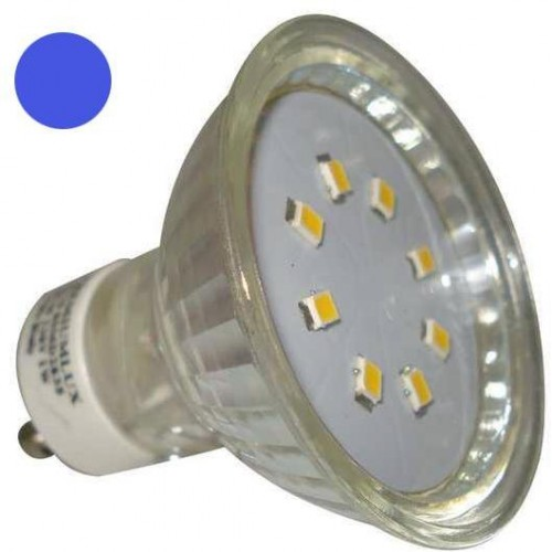 LED žárovka 1W 8xSMD2835 GU10 90lm MODRÁ