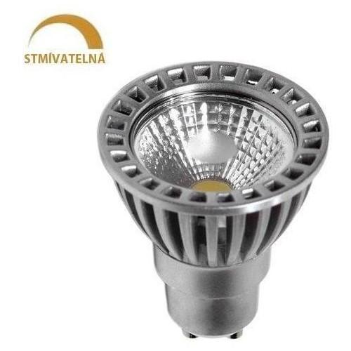 LED žárovka 6W COB GU10 480lm 50° CCD STUDENÁ STMÍVATELNÁ