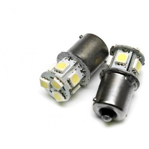 LED auto žárovka 12V LED BA15S 8SMD5050 1,6W