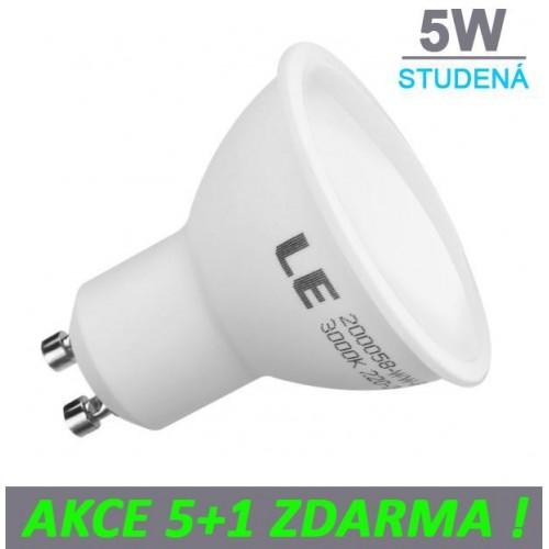 LED žárovka 5W 9xSMD2835 GU10 400lm STUDENÁ