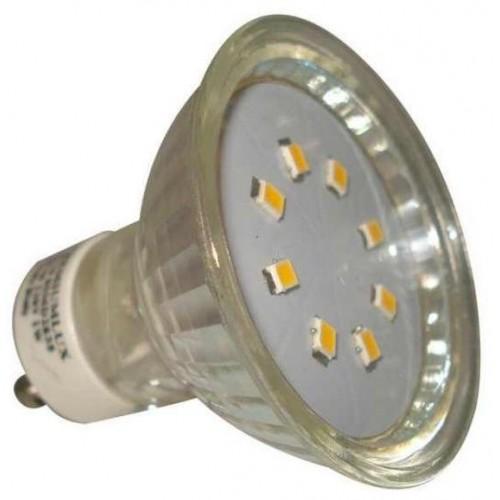 LED žárovka 1W 8xSMD2835 GU10 90lm STUDENÁ BÍLÁ