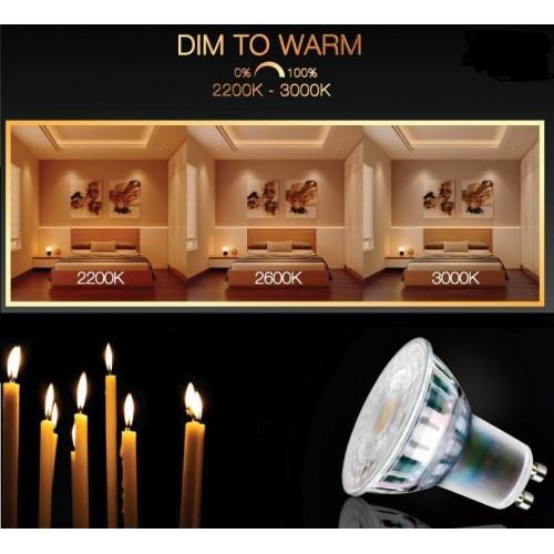 LED žárovka 5,5W GU10 DIM to WARM 345lm TEPLÁ BÍLÁ