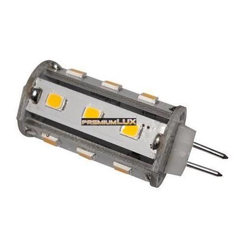 LED žárovka 3,5W 18xSMD G4 320lm corn TEPLÁ BÍLÁ 12V DC
