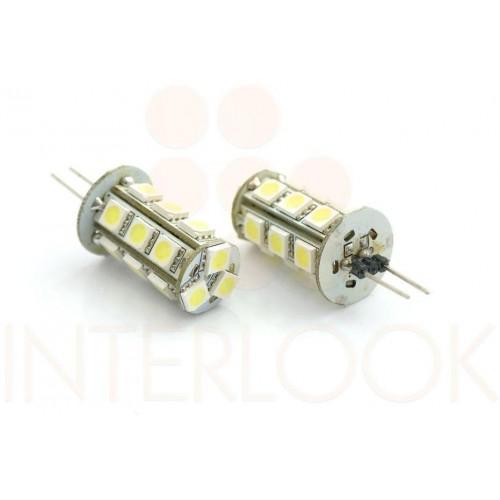 LED žárovka 3W 18xSMD5050 G4 270lm 12V DC TEPLÁ