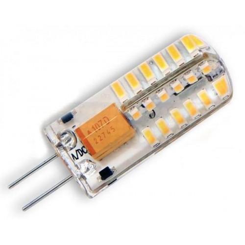 LED žárovka 3W 48xSMD3014 G4 240lm CCD silikon TEPLÁ 12V DC