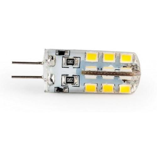 LED žárovka 3,2W 24xSMD2835 G4 360lm 12V DC STUDENÁ silikon