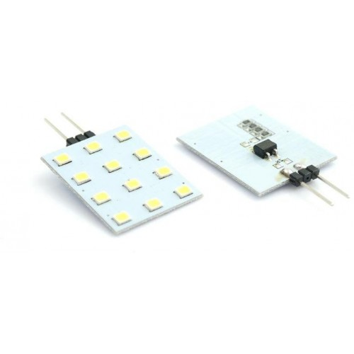 LED žárovka 2,4W 12xSMD2835 G4 200lm 12V DC TEPLÁ