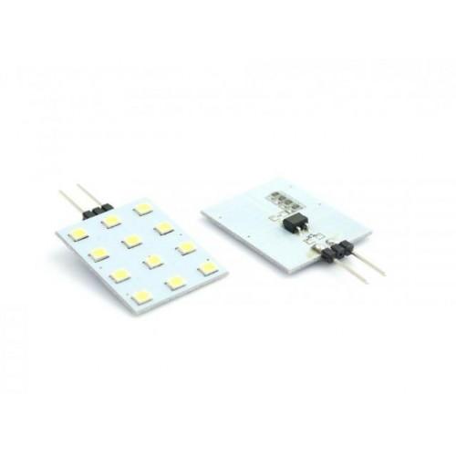 LED žárovka 2,4W 12xSMD2835 G4 200lm 12V DC NEUTRÁLNÍ