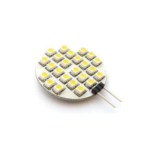 LED žárovka 2,4W 24xSMD1210 G4 200lm 12V DC TEPLÁ