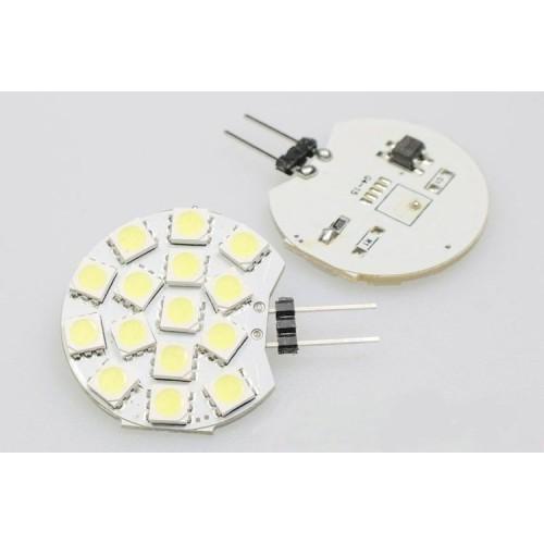 LED žárovka 3W 15xSMD5050 G4 250lm 12V DC TEPLÁ