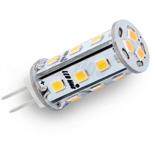 LED žárovka 3W 18xSMD G4 295lm corn TEPLÁ BÍLÁ 12V DC