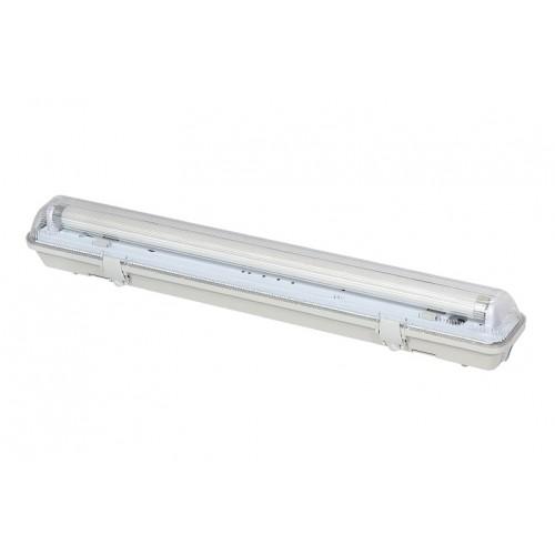 KOMPLET Prachotěsné svítidlo +1 LED trubice T8 10W 60cm TEPLÁ