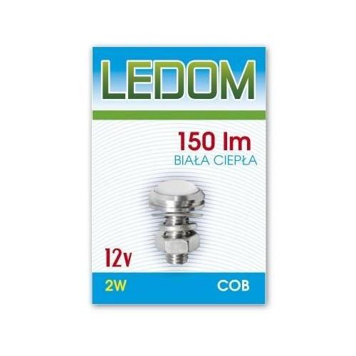 Nábytkové bodové svítidlo LED COB s čočkou 12V 2W TEPLÁ