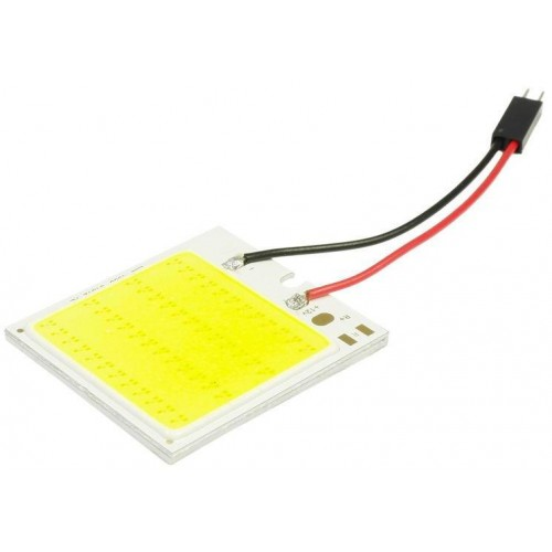 Panel LED COB 48-chip 6x8 + adaptéry C5W a W5W
