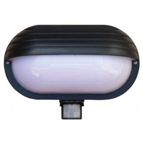 Svítidlo nástěnné s čidlem pohybu Oval PIR-Micro, černé