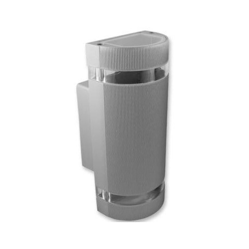Přisazené venkovní svítidlo HANA O 2xGU10, stříbrné