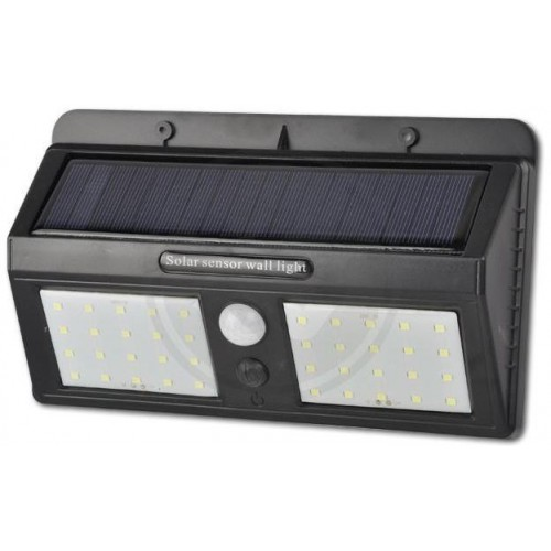 Solární LED reflektor PIR 22W SMD2835 1760lm ULTRA SLIM NEUTRÁLNÍ
