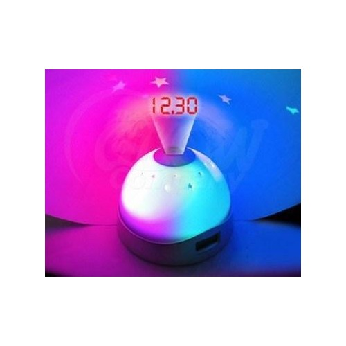 AK236 Hodiny s projektorem LCD LED 2v1