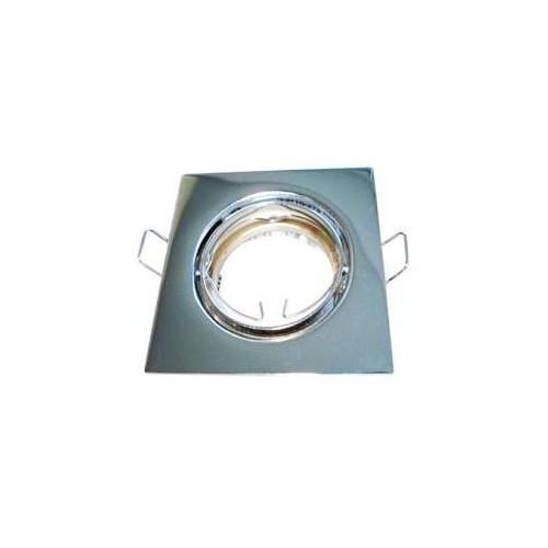 Podhledové bodové svítidlo DELTA-R ALU chrom + patice, LUX01235