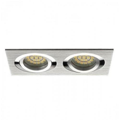 Podhledové bodové svítidlo JOTA K/2 stříbrná + patice, LUX01244
