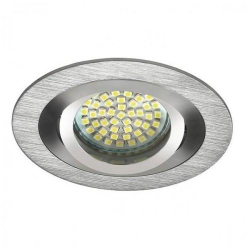 Podhledové bodové svítidlo OPAL stříbrná + patice, LUX01288