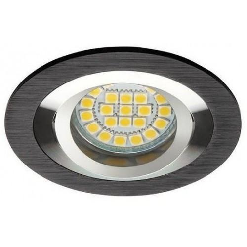Podhledové bodové svítidlo OPAL ALU černá + patice, LUX01289
