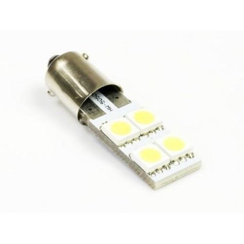 LED auto žárovka 12V LED BA9S 4SMD5050 H6W CAN BUS 0,8W