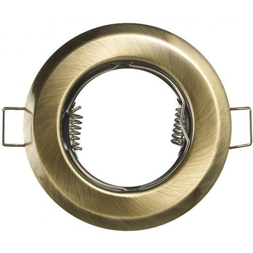 Podhledové bodové svítidlo ALFA mosaz + patice,LUX01226
