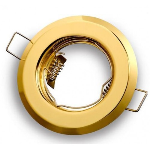 Podhledové bodové svítidlo ALFA zlatá + patice, LUX01229