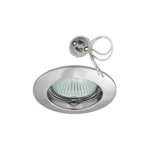 Podhledové bodové svítidlo GAMA ALU matný chrom + patice, LUX00273