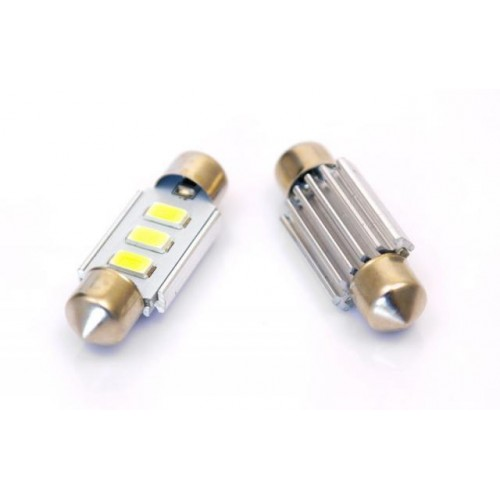 LED auto žárovka LED C5W 3 SMD 5630 CAN BUS 39mm