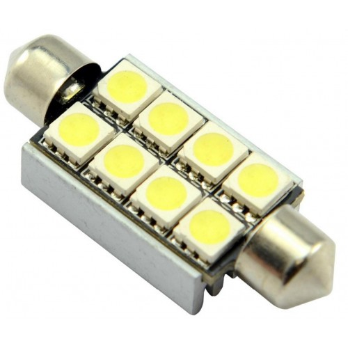 LED auto žárovka LED C5W 8 SMD 5050 CAN BUS 42mm