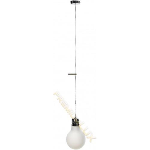 Stropní závěsné svítidlo AMANDA 230x1500mm 1xE27 bílé sklo, kov