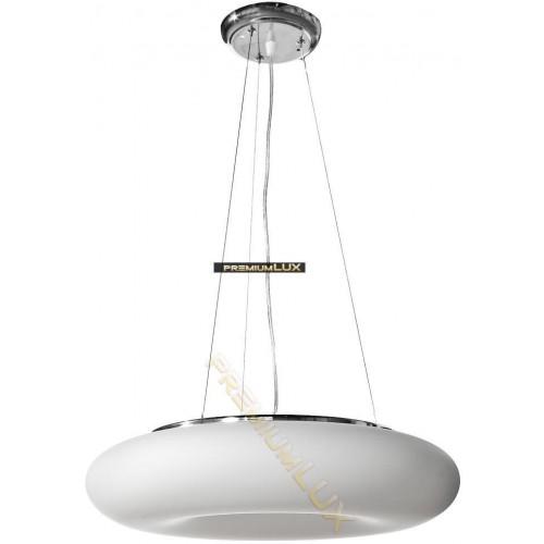 Stropní závěsné svítidlo DOMENICA 420x1500mm 3xE27  bílé sklo, kov