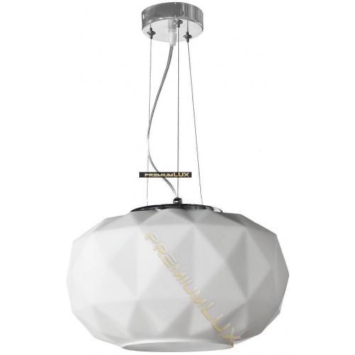 Stropní závěsné svítidlo ELENA 350x1500mm 1xE27 bílé sklo, kov