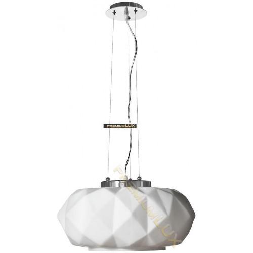 Stropní závěsné svítidlo ELENA 500x1500mm 1xE27 bílé sklo, kov