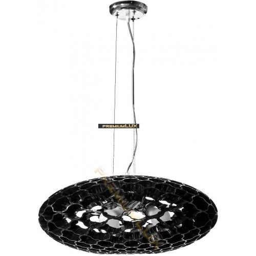 Stropní závěsné svítidlo LOLANDA 580x1500mm 3xE27 černé sklo, kov
