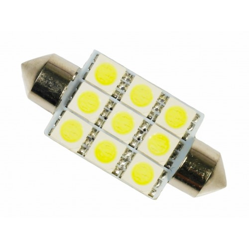 LED auto žárovka LED C5W 9 SMD 5050 39mm