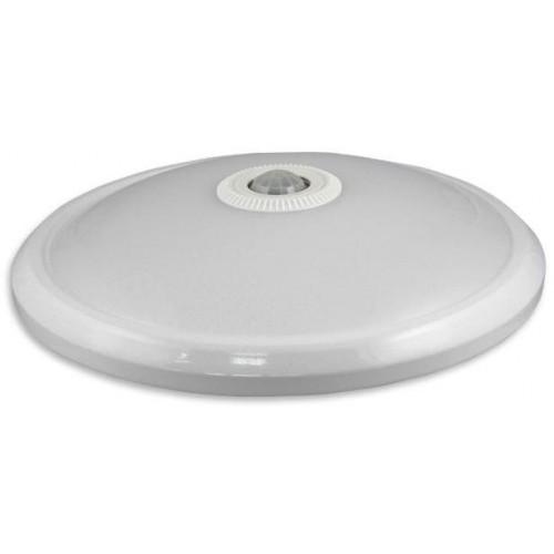 LED svítidlo 12W s PIR čidlem 24xSMD2835 960lm, plafon, Neutrální bílá