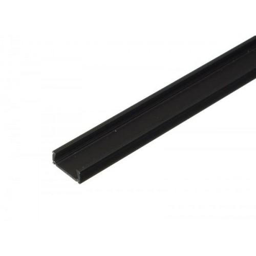 Hliníkový profil MiniLUX ČERNÝ 2m pro LED pásky, ALU lišta