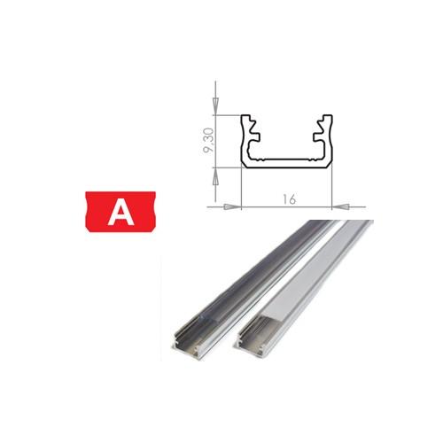 Hliníkový profil LUMINES A 3m pro LED pásky, hliník