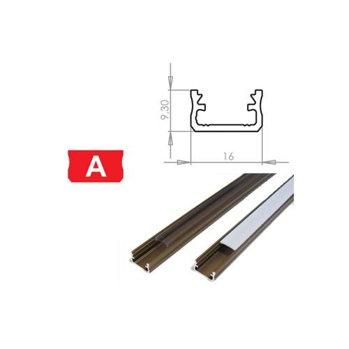 Hliníkový profil LUMINES A 3m pro LED pásky, inox